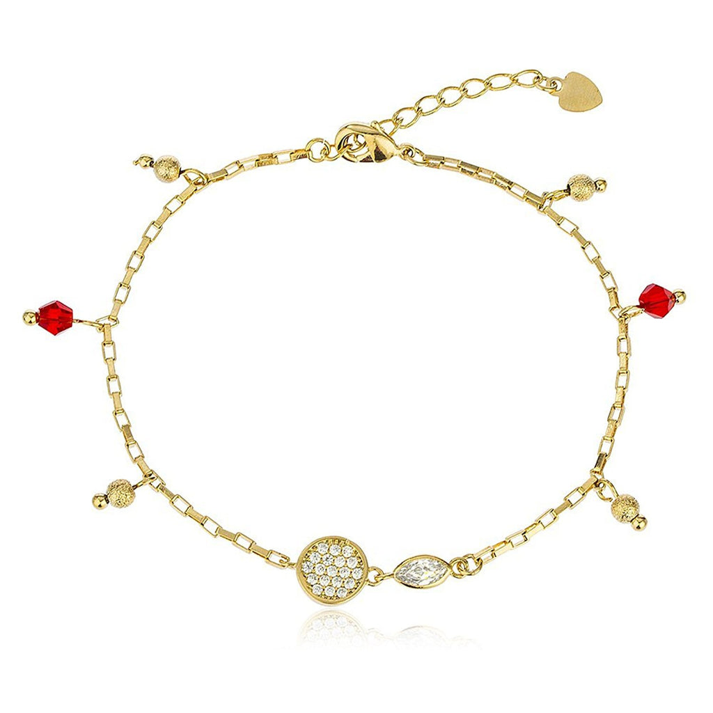 Red Disco Ball and Heart Bracelet...