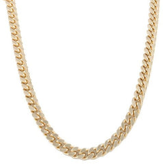 Goldtone 10mm 24 Inch Curb Chain Necklace
