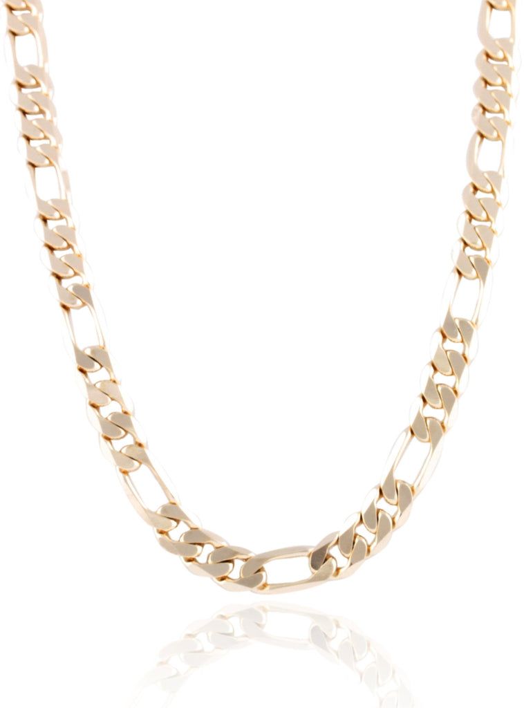Goldtone 10mm Flat Figaro Chain