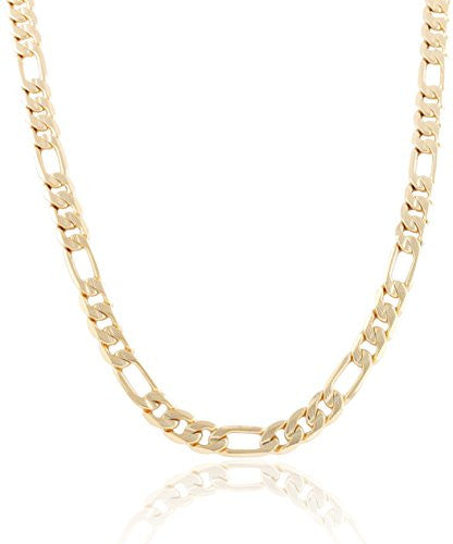 Goldtone 10mm Frosted Figaro Chain