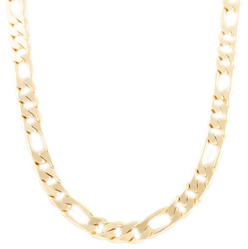 Goldtone 11mm Flat Figaro Chain