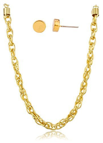 Goldtone 19-20 Inch Adjustable Rolo Chain...