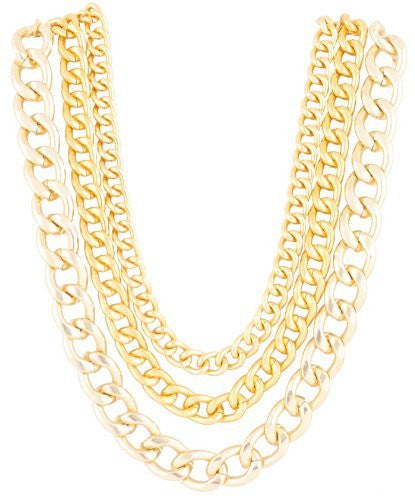 Goldtone 20 Inch Adjustable Multi Chunky...