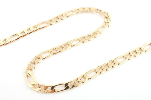 Goldtone 30 Inch Figaro Chain 10mm...