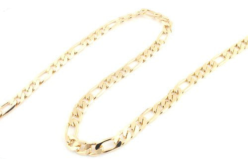 Goldtone 30 Inch Figaro Chain 12mm...