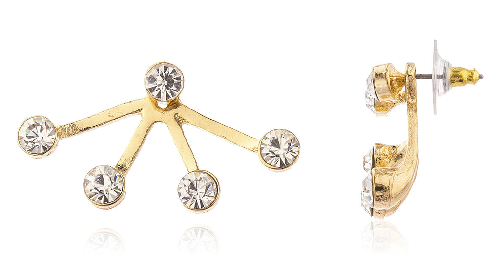 Goldtone 4 Clear Stones Ear Jacket...