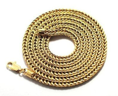 Goldtone 4mm 30 Inch Franco Chain Necklace