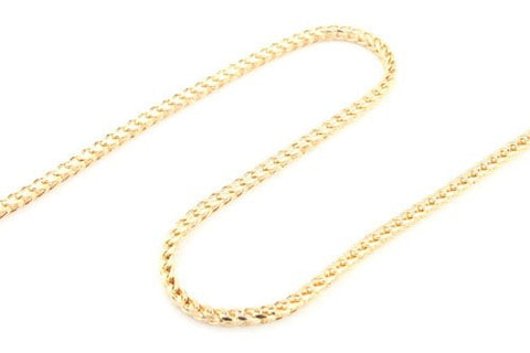 Goldtone 4mm 42 Inch The Real Franco Chain Necklace