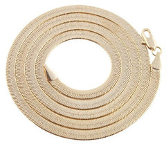 Goldtone 4mm Brass Herringbone Chain - Available In All Lengths