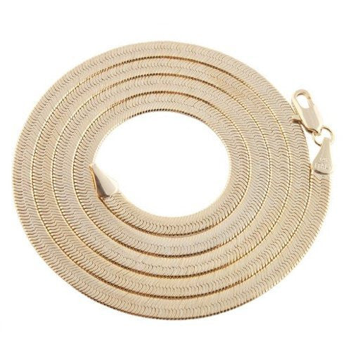 Goldtone 4mm Brass Herringbone Chain -...