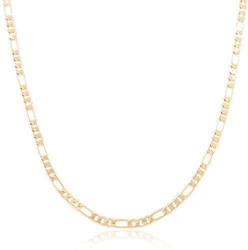 Goldtone 4mm Flat Figaro Chain