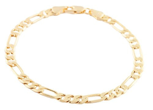 Goldtone 5mm Flat Figaro Chain