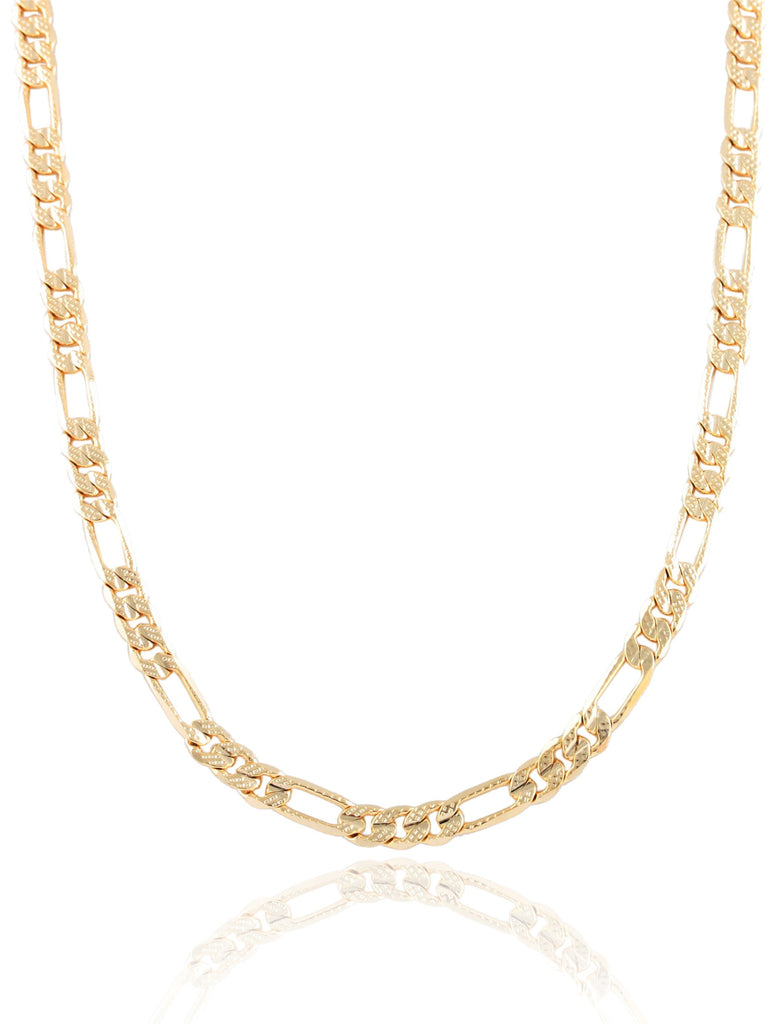 Goldtone 5mm Frosted Figaro Chain