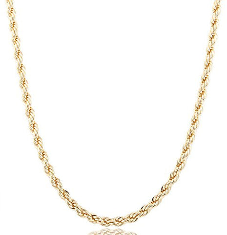 Goldtone 6mm Brass Rope Chain - Available In All Lengths