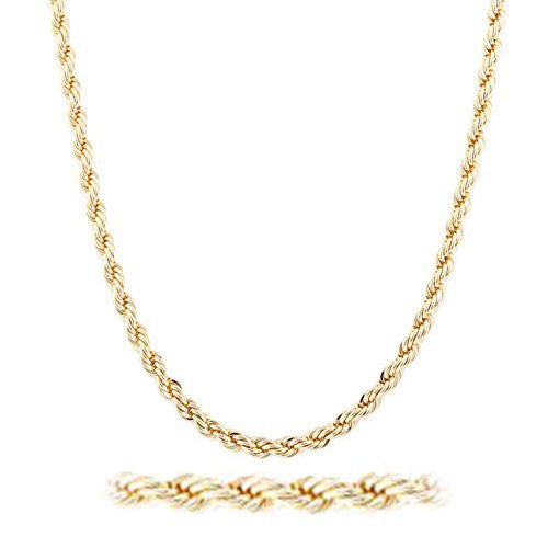 Goldtone 6mm Brass Rope Chain -...