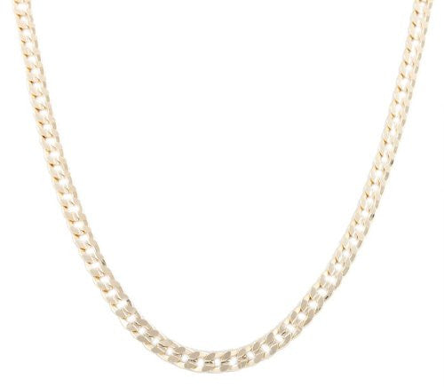 Goldtone 7mm 20 Inch Frosted Cuban Chain Necklace
