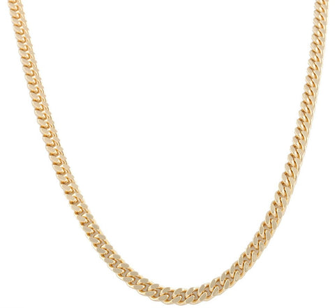 Goldtone 7mm 24 Inch Curb Chain Necklace