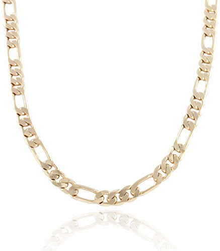 Goldtone 7mm Flat Figaro Chain