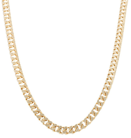 Goldtone 8mm 24 Inch Curb Chain Necklace