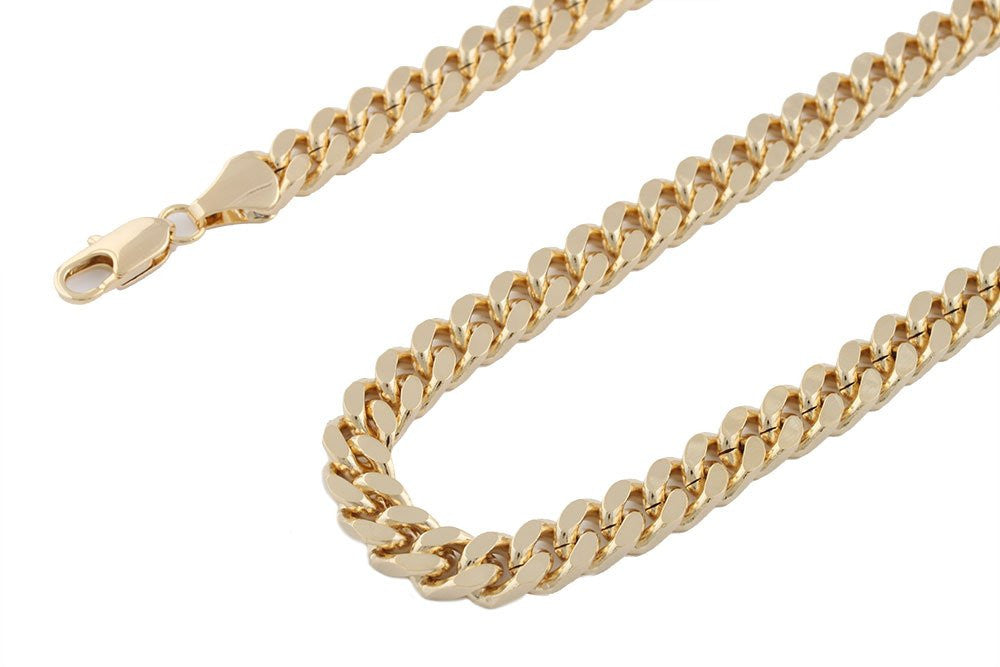 Goldtone 8mm 24 Inch Curb Chain...