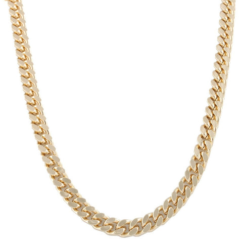 Goldtone 8mm 30 Inch Curb Chain Necklace
