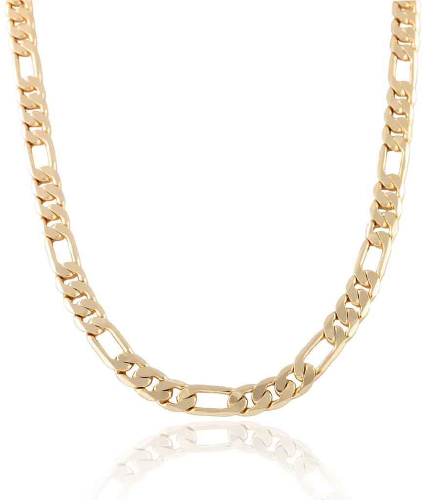Goldtone 8mm Flat Figaro Chain