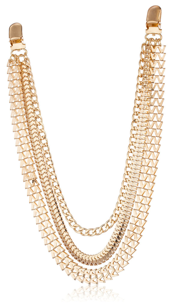 Goldtone Adjustable Chevron And Snake Style...