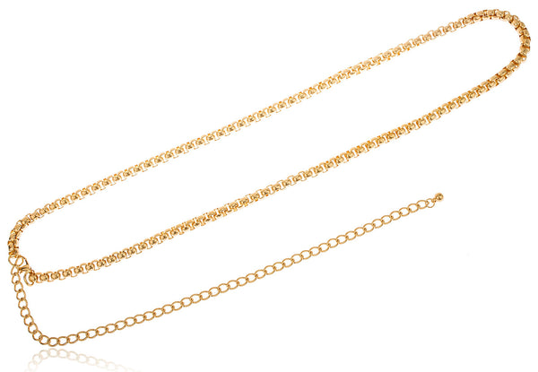 Goldtone Adjustable Length Rolo Style Belt Chain