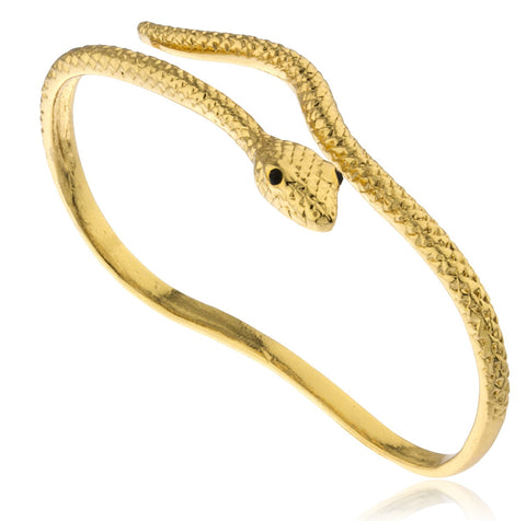 Goldtone Adjustable Snake Palm Cuff