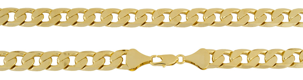 Goldtone Brass 12mm Flat Cuban Chain...
