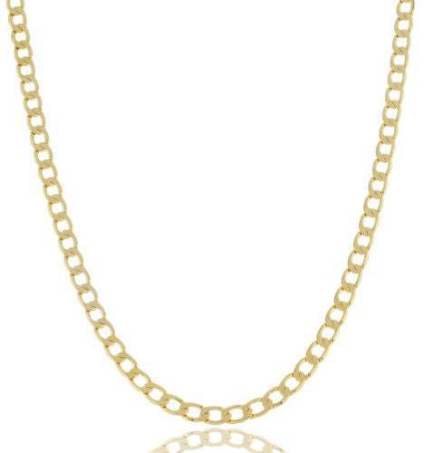 Goldtone Brass 5mm Flat Cuban Chain...