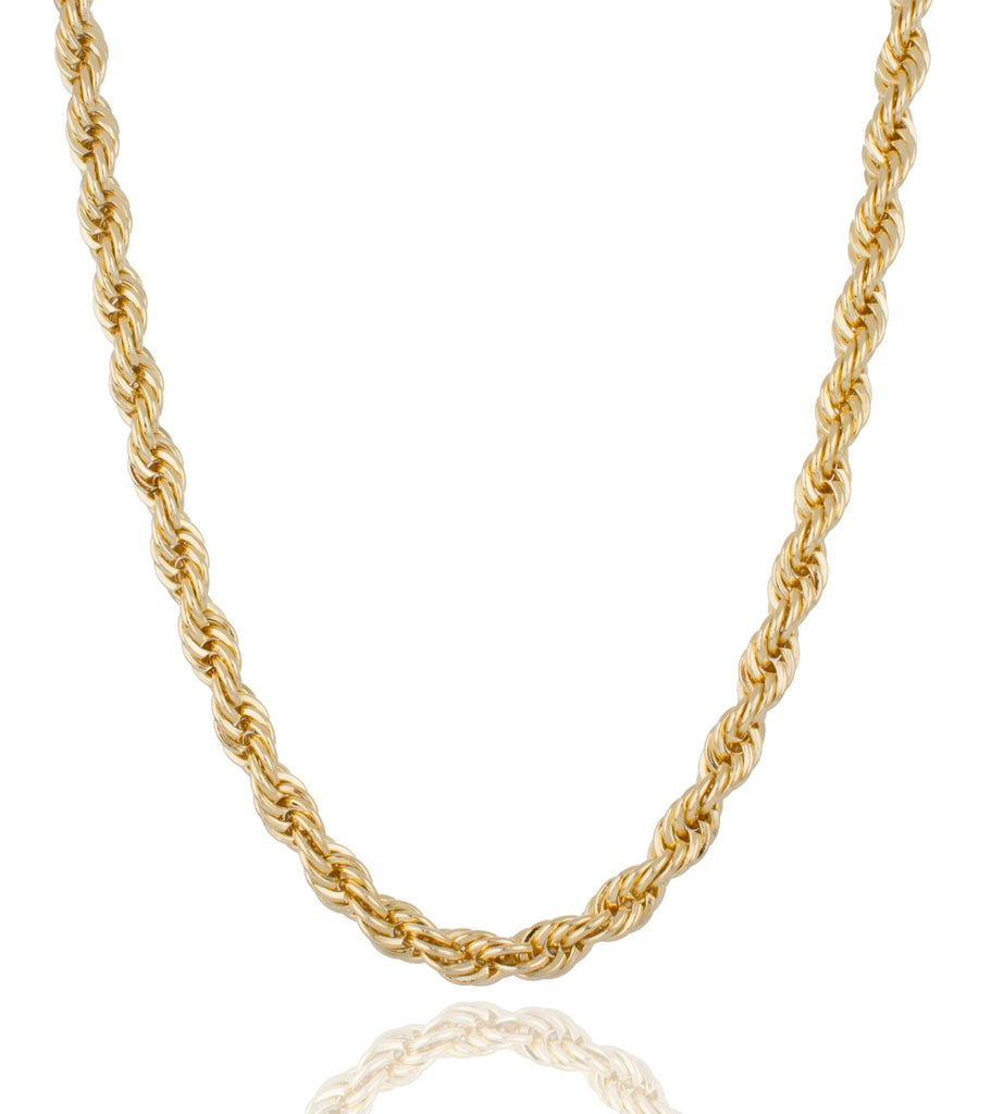 Goldtone Brass 8mm 36 Inch Rope...