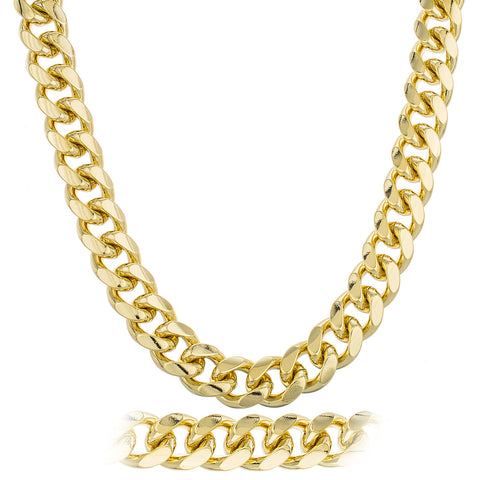Goldtone Brass Heavy 18mm Curb Cuban Chain (9,30 And 36 Inches)