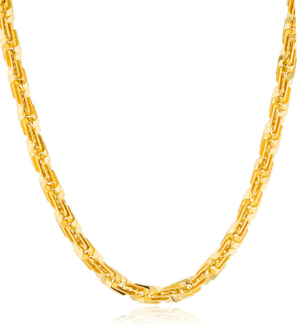 Goldtone D-cut Brass Box Rope Chain - Available In 8 2426 28 30 And 36