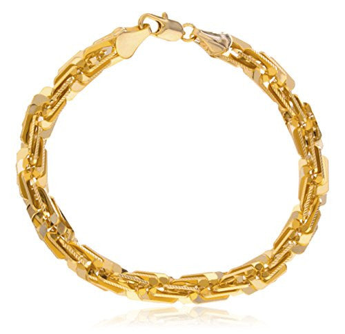 Goldtone D-cut Brass Box Rope Chain...