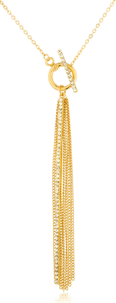 Goldtone Dangling Link Chains With Long...