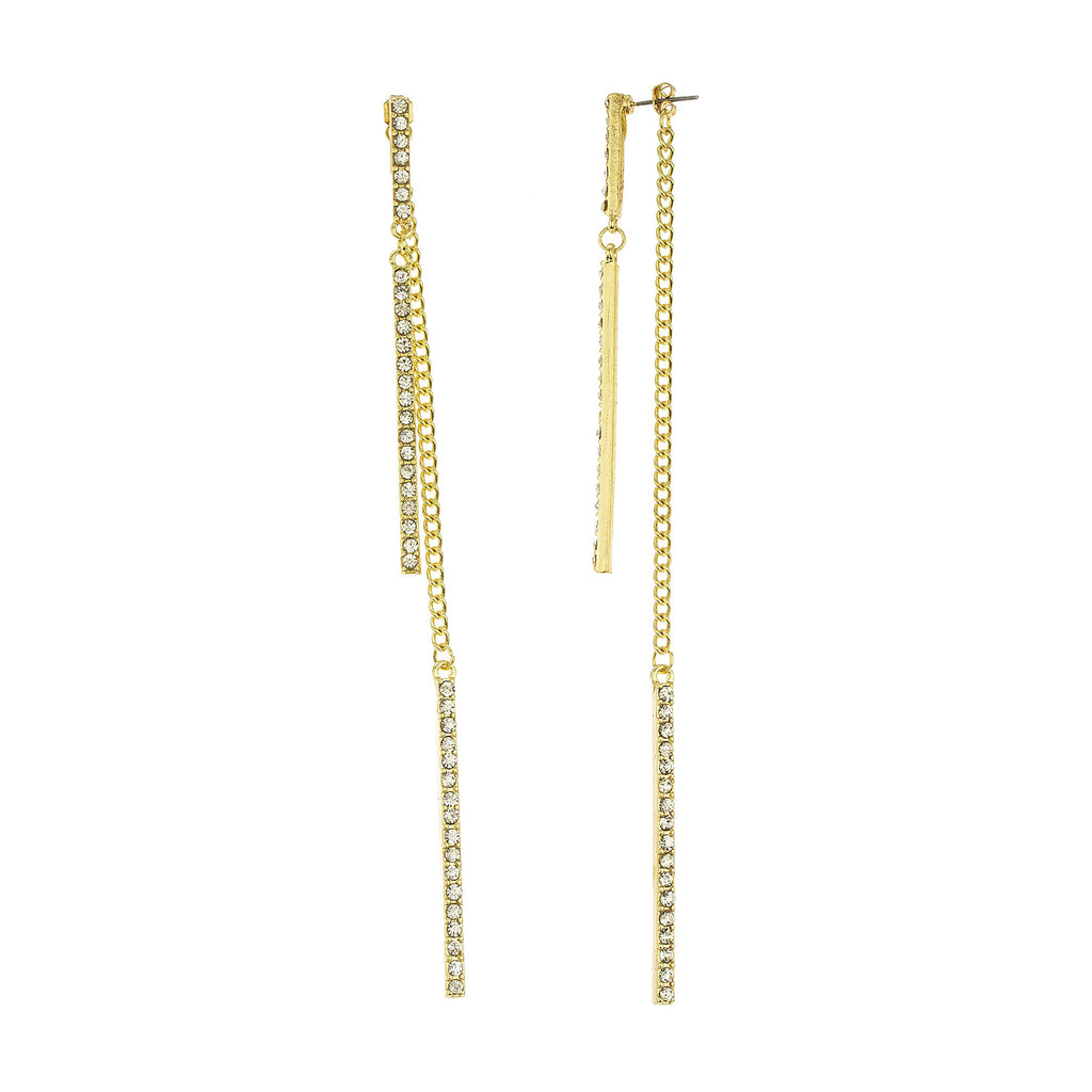 Goldtone Dangling Stone Bar Chain 6...