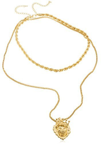 Goldtone Double Layered Rope And Box...
