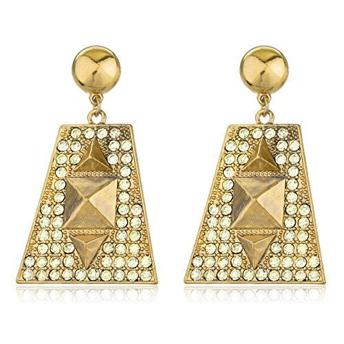 Goldtone Egyptian Pyramid With Stones Dangling...