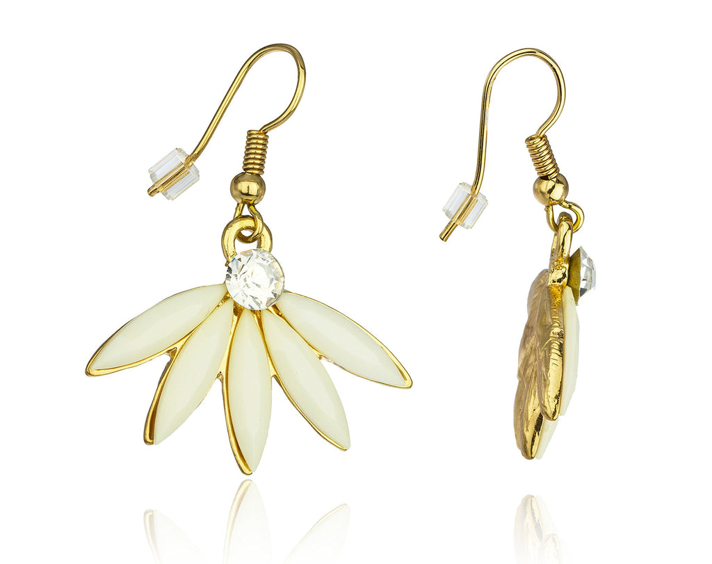 Goldtone Flowers With Clear Stones And...