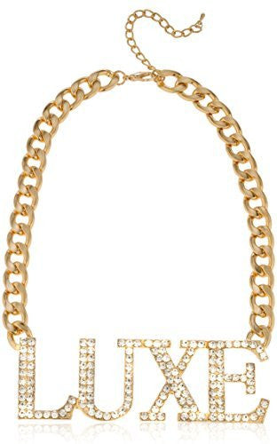Goldtone Iced Out Luxe Chain Necklace...