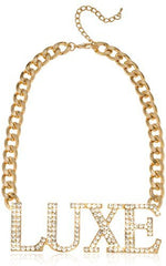Goldtone Iced Out Luxe Chain Necklace