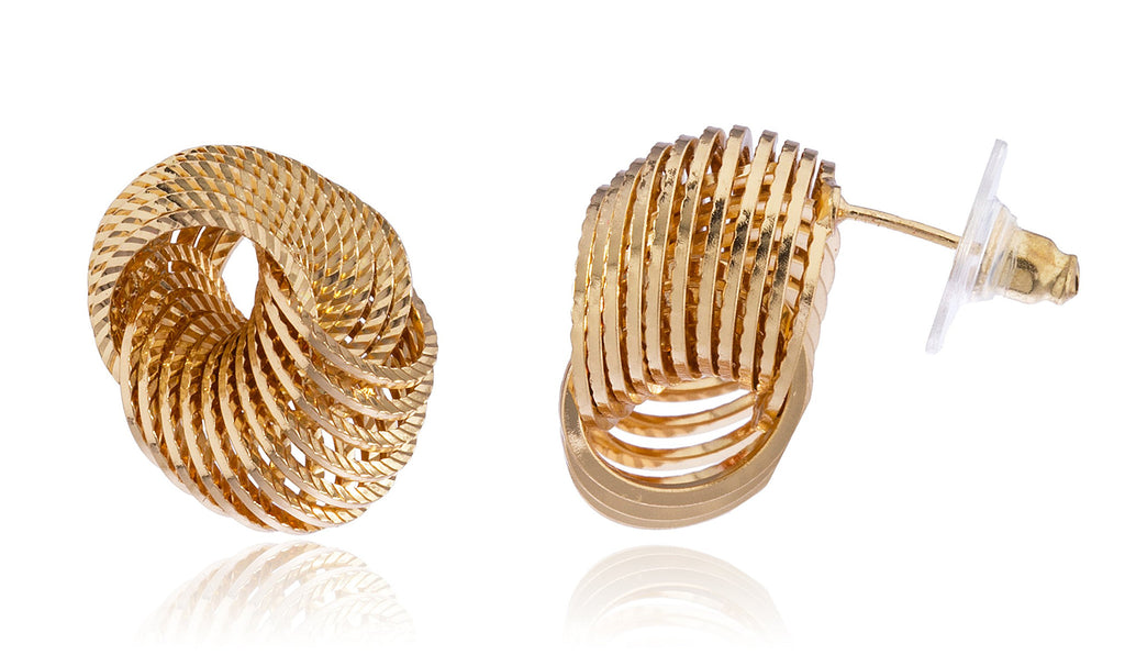 Goldtone Knot Design Earrings