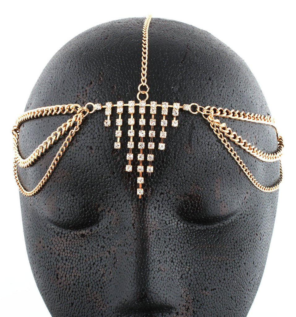 Goldtone Metal Head Chain With Centered...