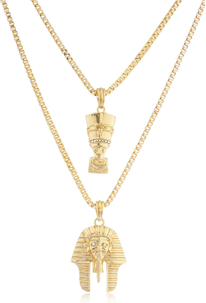 Goldtone Queen Nefertiti And King Tut...