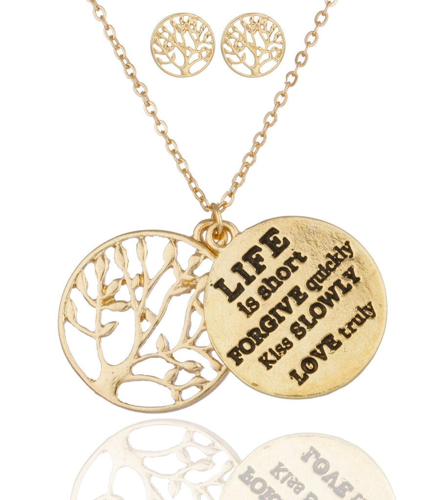Goldtone Tree Of Life With Inspirational...