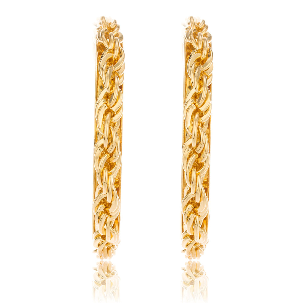 Goldtone Wheat Chain Design 2.5 Inch...