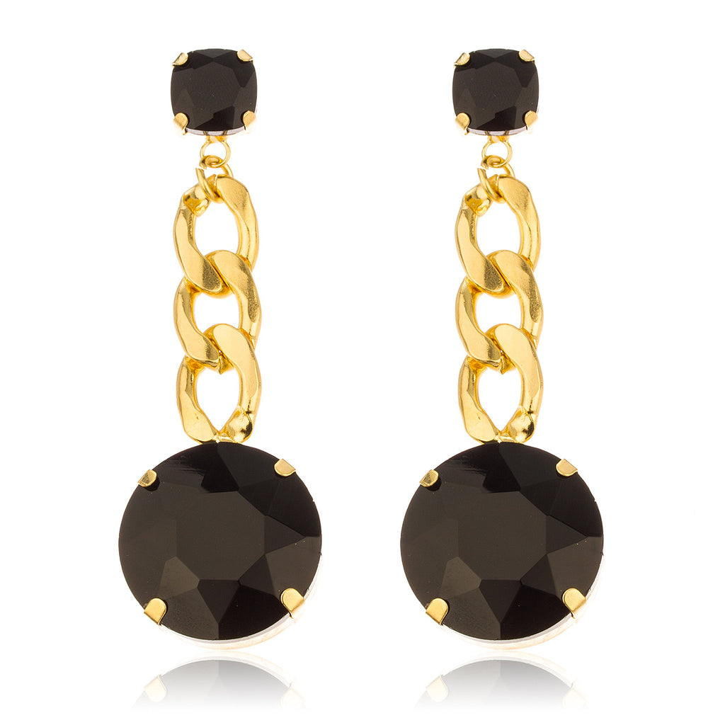 Goldtone With Black 'Crystal Clear' 3...