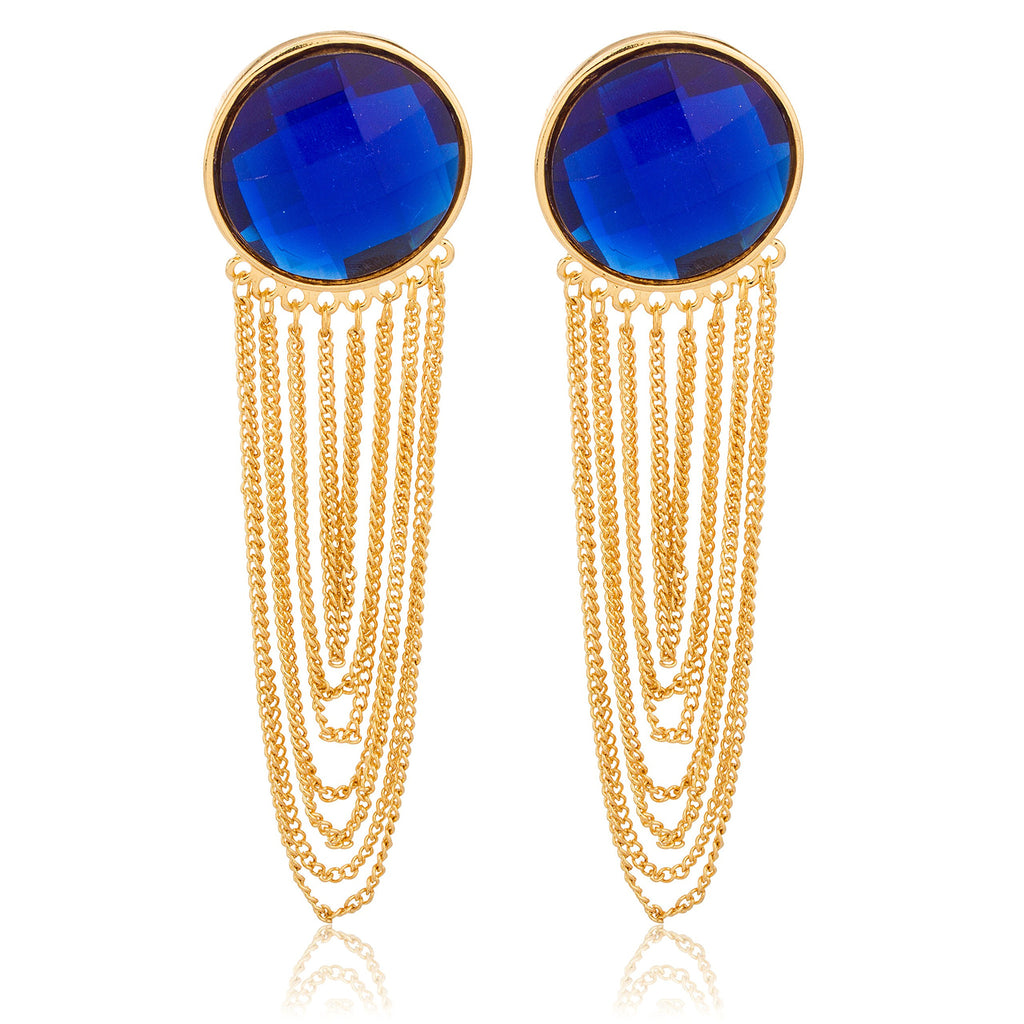 Goldtone With Blue 'Crystal Clear' 4...