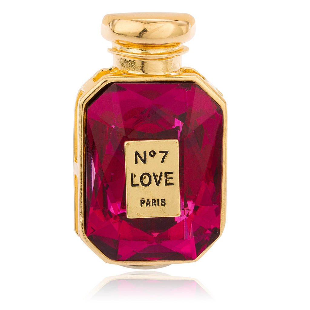 Goldtone With Pink Stone No7 Love...